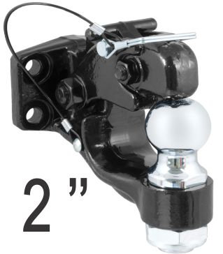 4Wd Pintle Hook With Trailer Hitch Ball Black