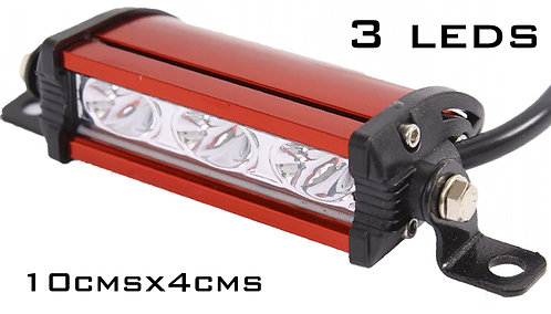 Alu Red 3 LED Light Bar