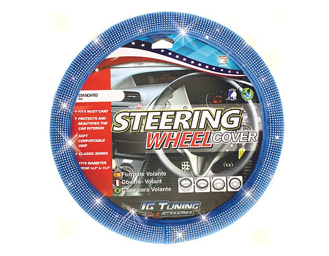 Steering Wheel Cover Bling Bling Blue