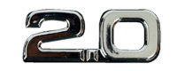 2.0  Chrome Emblem