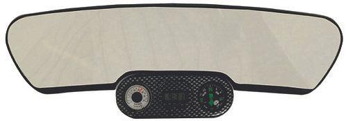 Rear View Mirror W/Compass & Watch