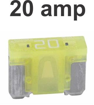 20 Amps Micro Fuse 100 Pcs