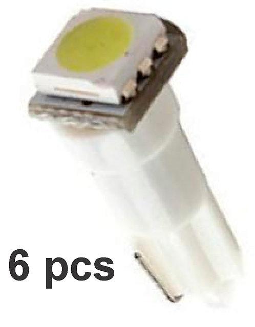 T5 1 Led (6 Pcs) White