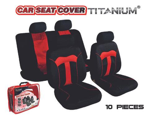Seat Cover Titanium Red 10 pcs