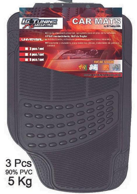Pvc Car Mat Adjustable 3 Pcs Black