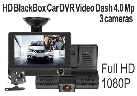 DashCam 4.0 Mp con 3 cameras DVR