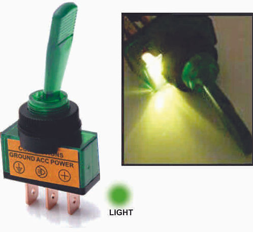 Large Green Switch W/Light