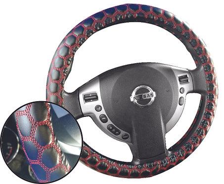 Ball Design Steering Wheel Cover Black