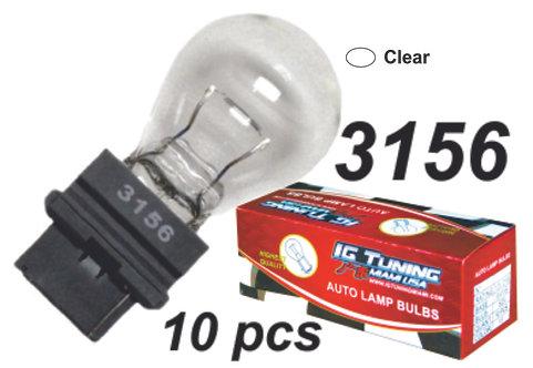 3156 Clear Glass Bulb (10Pcs)