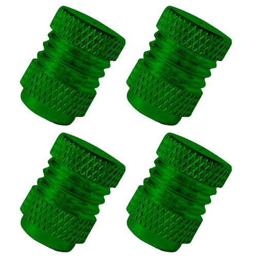 Green 4Pcs.Set Valve Caps.
