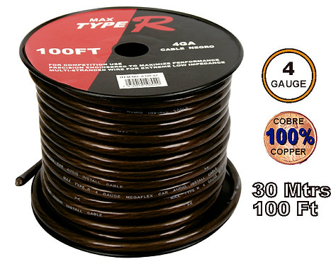 Free O2 Cable 35 mtrs 4GA Black