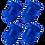 Thumbnail: Blue 4Pcs.Set Valve Caps.