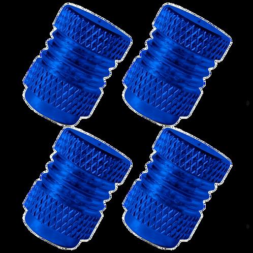 Blue 4Pcs.Set Valve Caps.