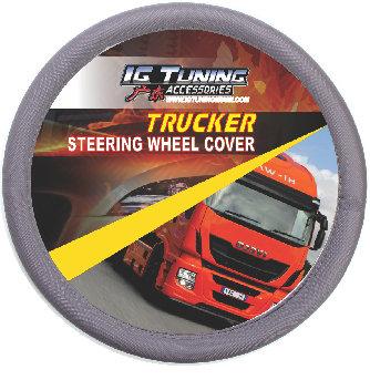 Steering Wheel Cover Large 45 cm Gray