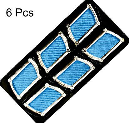 Air Flow 6 Pcs Square Blue