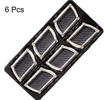Air Flow 6 pcs Square Black