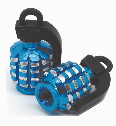 Grenade Valve Caps Blue