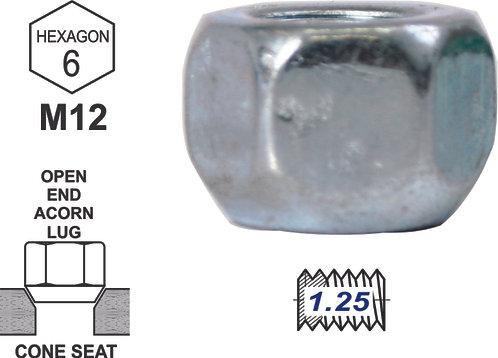Nut Nickel Short 16Mm 1.25 (1 Pcs)