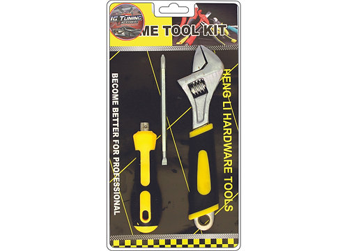Kit Screwdriver and adjustable Wrench