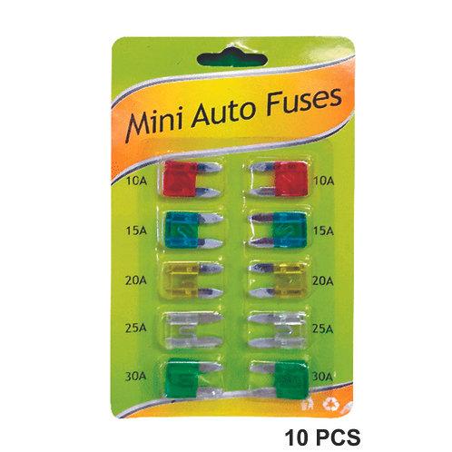 Kit  Of 10  Mini Fuses Various Amps