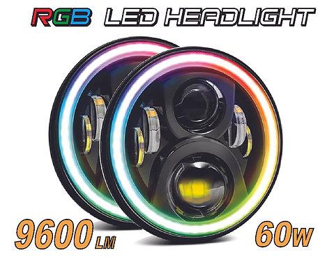 """Headlamp Kit 2 pcs 7"""" controller with app"""