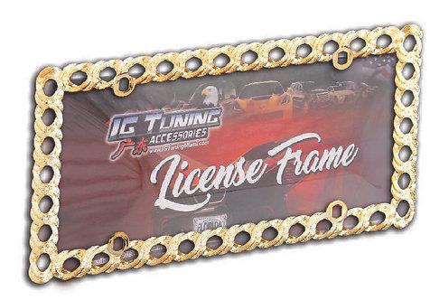 License Frame Plastic Rings Golds