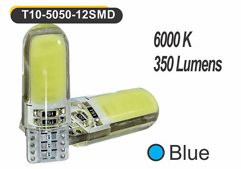 T10 LED 6 GelED 2 pcs Blue