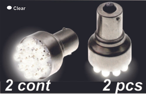 Double.Cont Clear 12Led Bulb  (2Pcs)
