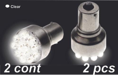 Double.Cont Clear 12Led Bulb  (2Pcs)
