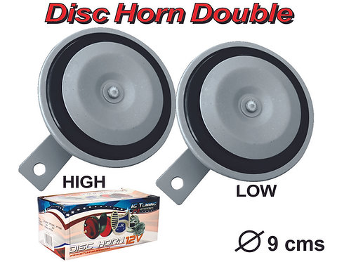 Double Horn Disc 12 Volts