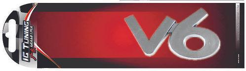 V6 Chrome Emblem
