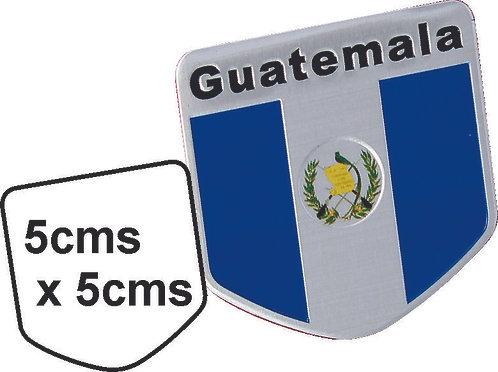 Sticker metal Guatemala Flag