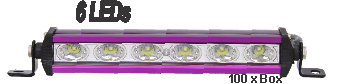 Alum Purple 6 Led Light Bar