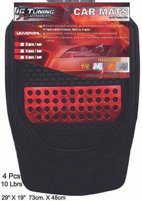 Car Mats Mod.Xcalibur Black-Red