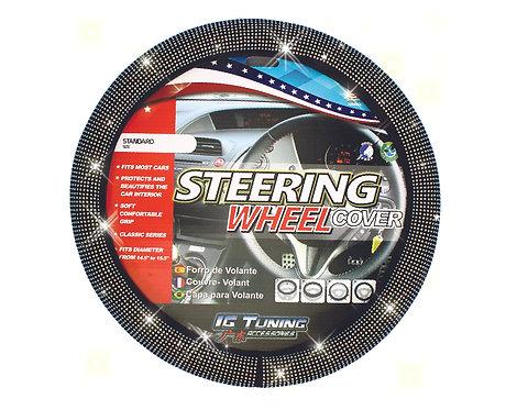 Steering Wheel Cover Bling Bling Black