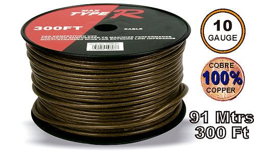 Free O2 Cable 91 mtrs 10GA Black