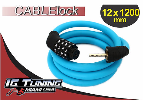 Motorcycle Cable lock Combina 12x120 cms