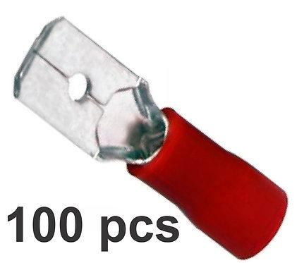 Male Red Terminal 100 Pcs