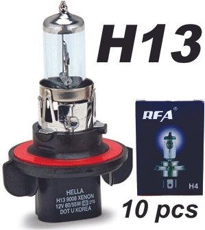 H13 Halogen Bulb 10 pcs
