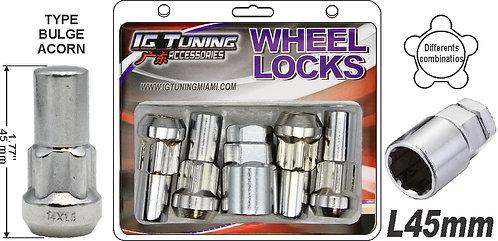Acorn Mag L45 Wheel Lock 14x1.5 6Pcs