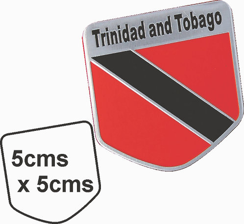 Sticker metal Trinidad Flag