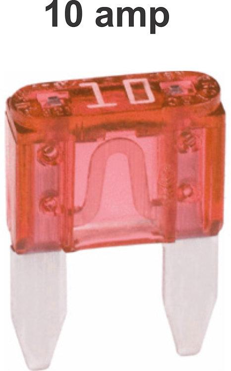 10 Amps Mini Fuse 100 Pcs