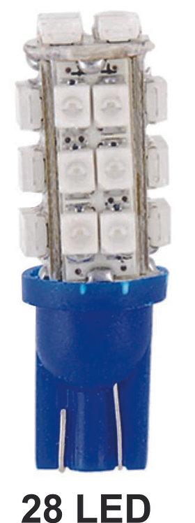 T10 Tower 28 Leds Blue 2 Pcs