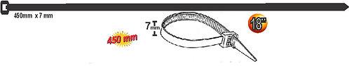 7 x 450 mm Black Tie Wrap 100 pcs
