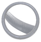 Relief Seam Steering Whell Cover Gray