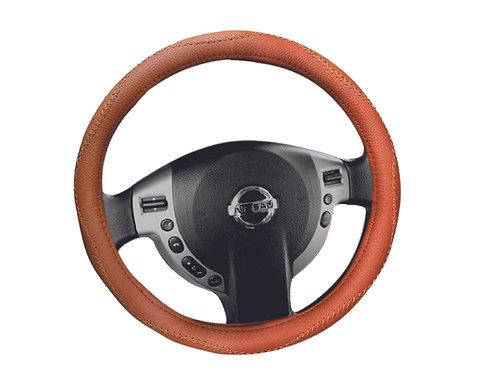 Steering Wheel Cover Handmade Brown