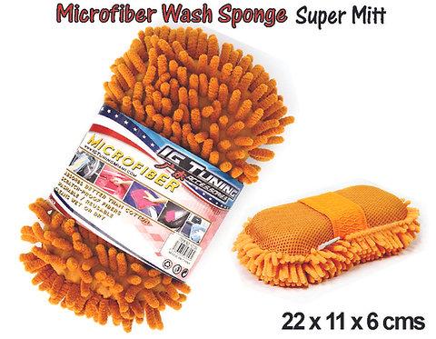 Super Mitt Sponge Microfiber Hairs