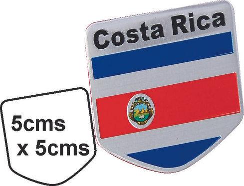Sticker metal Costa Rica Flag