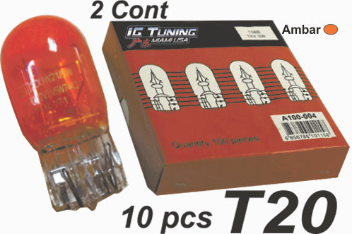 Two Contac T20 Ambar Glass Bulb  10 Pcs
