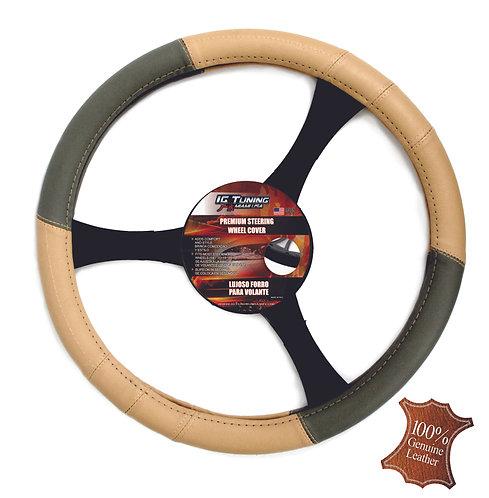 Stteering Wheel Cover Beige Gray